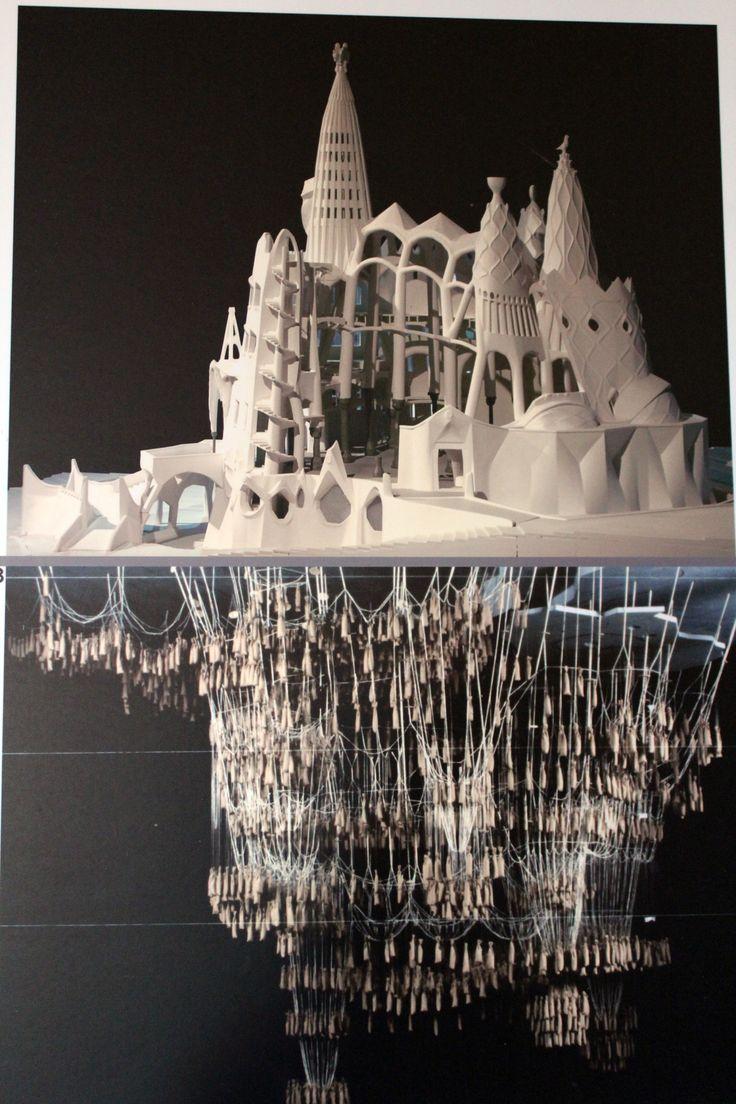 Model. The Church of Colònia Güell (unfinished) Santa Coloma de Cervelló, (near Barcelona) Spain. Construction started: 1898. Antoni Gaudi.