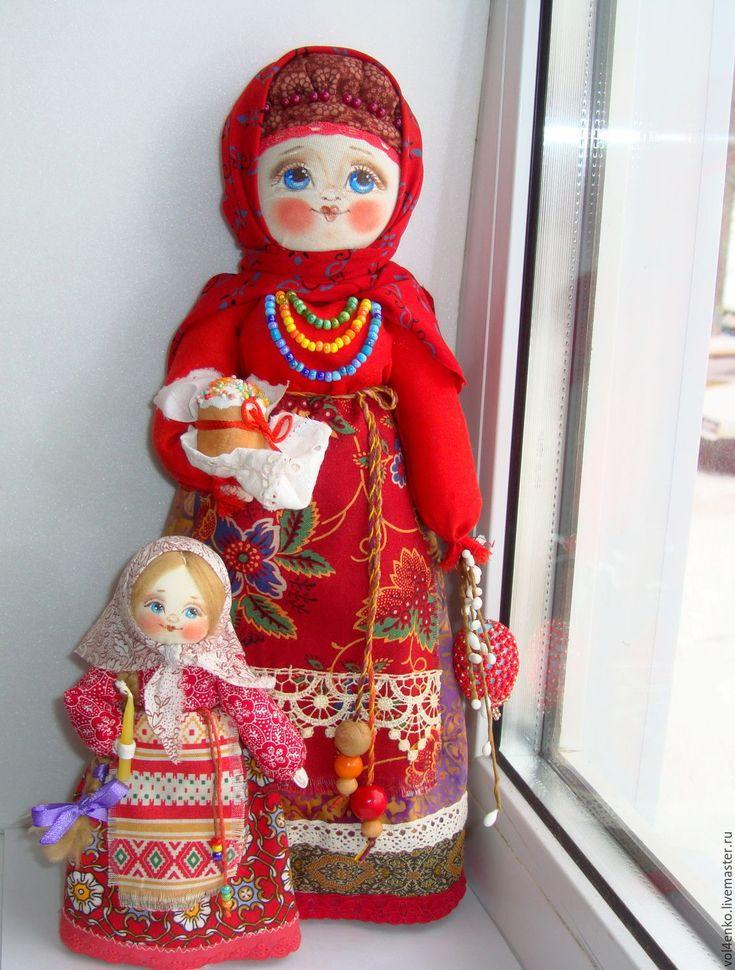 """Купить Русская народная кукла """"Пасхальная."""" - ярко-красный, русский стиль, русская кукла"""