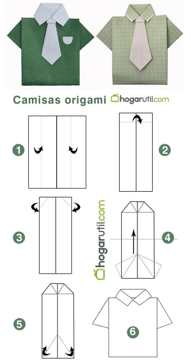 Рубашка в оригами