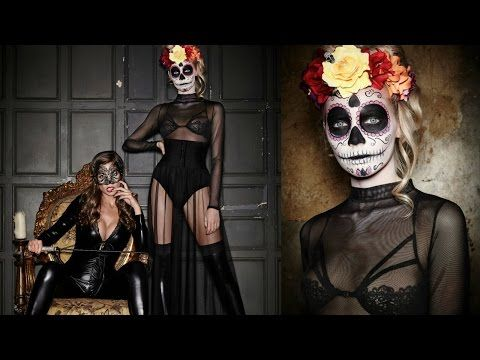 EASY MEXICAN SUGAR SKULL DAY OF THE DEAD MAKEUP TUTORIAL | LAURA SOMMERVILLE - YouTube