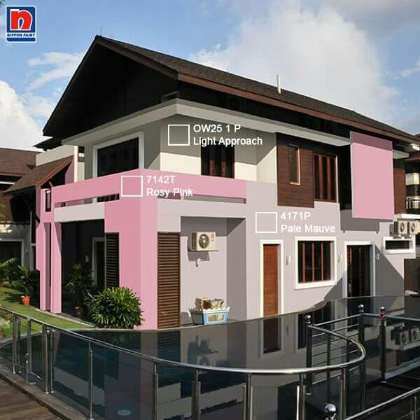 Kombinasi Remember Rosy Pink 7142T, Pale Mauve 4171P dan Light Approach OW25 1P memberikan kehangatan dan eksterior yang menyenangkan serta ramah. Bentuk ormanen lainnya seperti pintu dan jendela juga dapat menonjolkan bentuk elemen dalam arsitektur. Lihat inspirasi lainnya dihttp://bit.ly/exterior-subtle-raspberry  #ImajinasiTanpaKompromi
