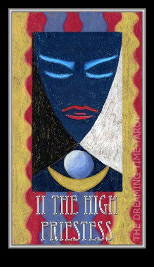 The High Priestess Dreaming Time Tarot
