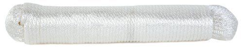 Koch 5220635 Solid Braid Nylon rope, 3/16 by 100 Feet, White by Koch. $12.13. From the Manufacturer                Nylon is a very strong, high stretch rope that absorbs shock loads.   Nylon stretches up to 40% before breaking.  General uses include towing, anchor and dock lines.                                    Product Description                Nylon is a very strong, high stretch rope that absorbs shock loads. Nylon stretches up to 40% before breaking. General uses include...