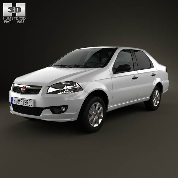 Fiat Siena 2013 3d model from humster3d.com. Price: $75