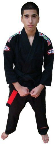 Bjj Kimono Jiu Jitsu/judo Gi Student Black Color 3 by Worldorf USA. $41.99. Single weave jiu jitsu student uniform jacket 500gm , pant 10oz 100% bleached cotton .comes with white belt. Sanforized , Mersrise process, Embroidery on both shoulders , back of neck and on the pant, 3 flags woven on both shoulders (olympic style) . Now packed in clear plastic zipper bag, comes with white belt.  PS : no fear of shrinkage or color fadding (100% pre shrinked, and safe for color ble...