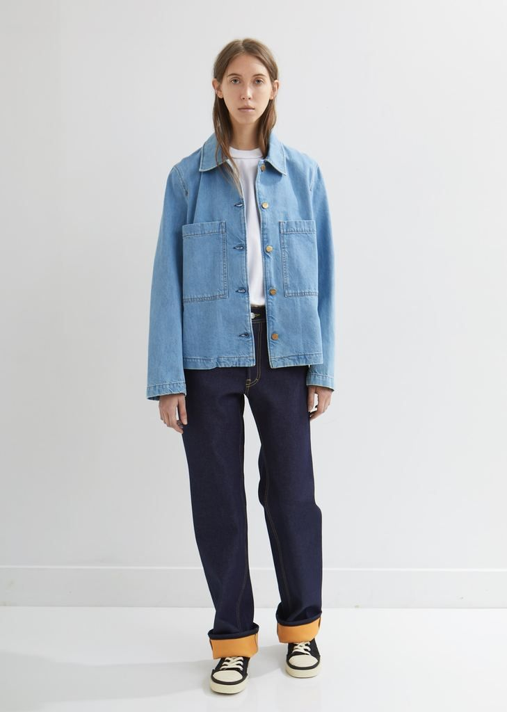 35e1364109 Cropped Work Denim Jacket - Fr 32   Light Blue in 2019