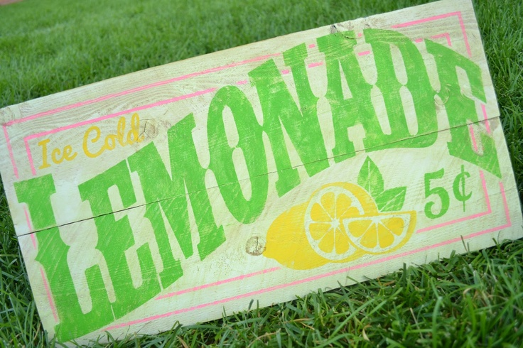 Love this sign for the back patio, next to my lemon tree!