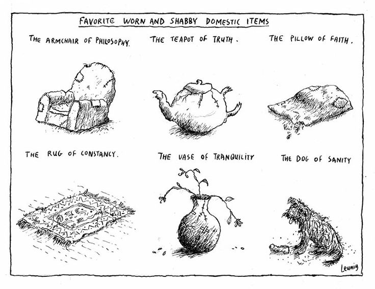 Favorite Worn and Shabby Domestic Items - Michael Leunig