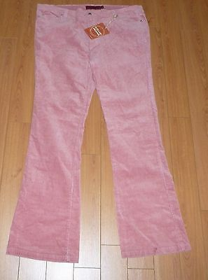 Women's Solid Pink Corduroy Jeans Size 19