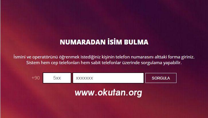 Türk Telekom (AVEA), Vodafone, Turkcell gibi tüm operatörler yada sabit hatlar için ücretsiz olarak beni arayan kim, arayan numara kime ait nasıl öğrenirim
