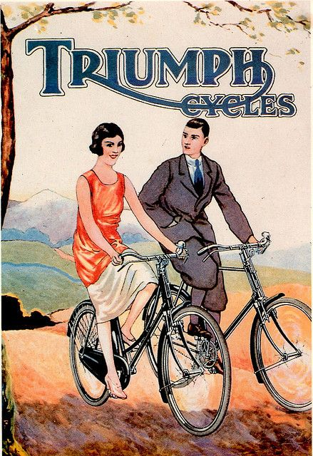 vintage Triumph Bicycles ad poster