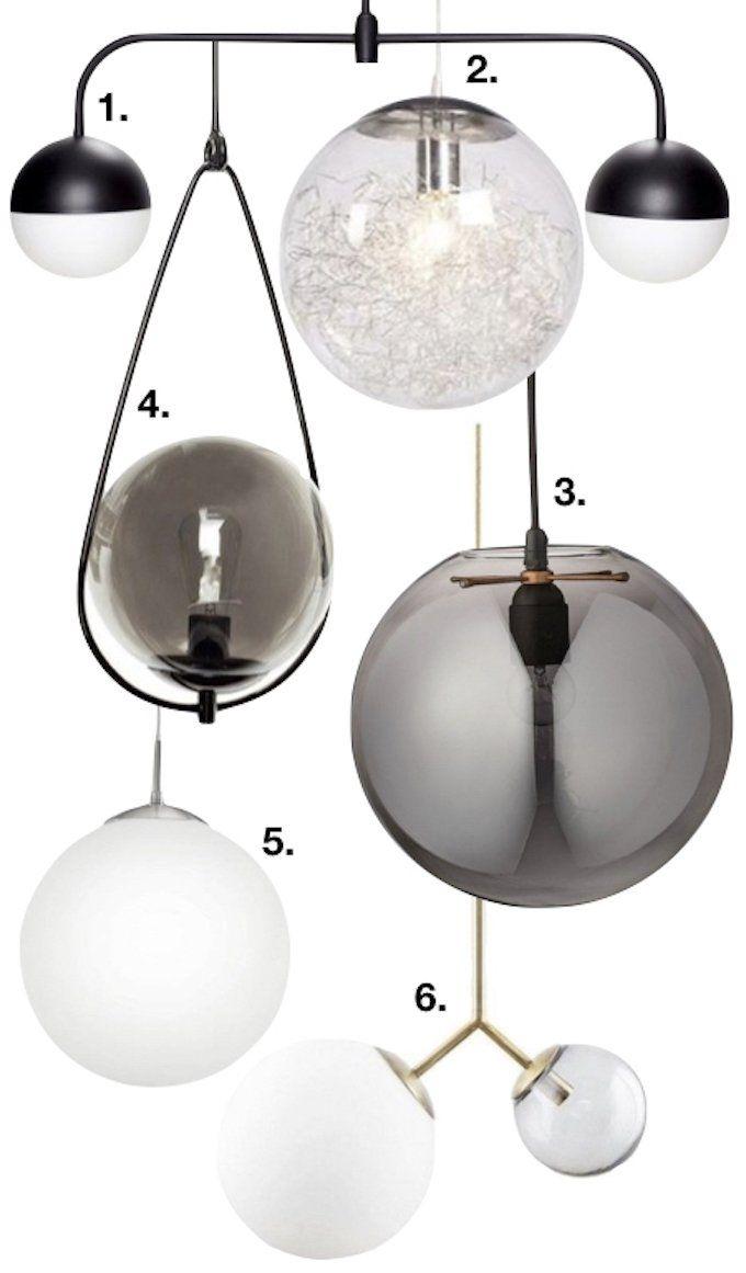 Lampe boule suspension design décoration intérieur idée déco luminaire clemaroundthecorner blog déco lightening lights