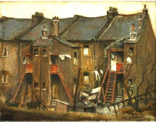 'Old Houses, Bethnal Green' by Walter Steggles / LONDON