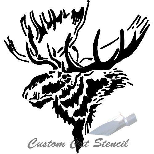 Moose Stencil Animals 0002 Moose Head Moose Animal