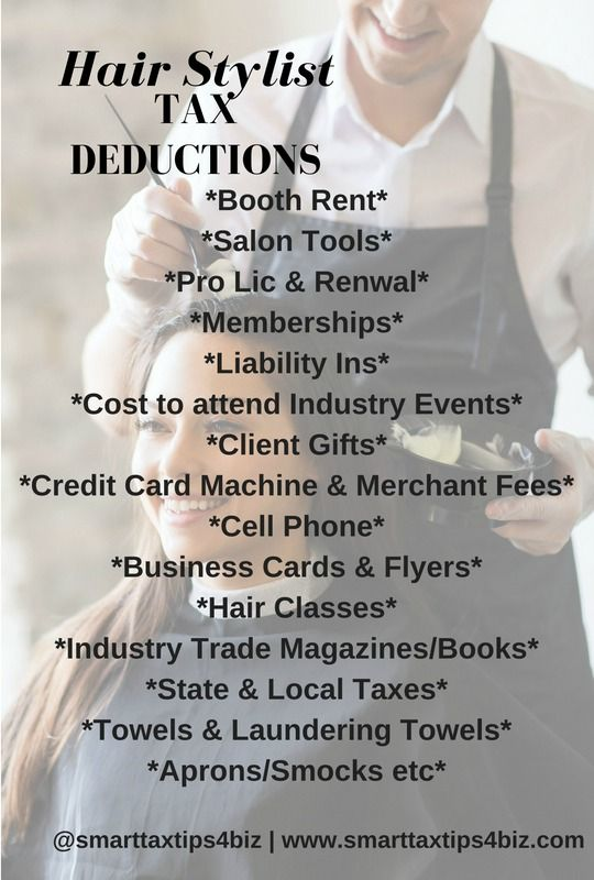 Planning to open up your own hair salon? Running a hair salon from home? Use these deductions to maximize on your tax savings.