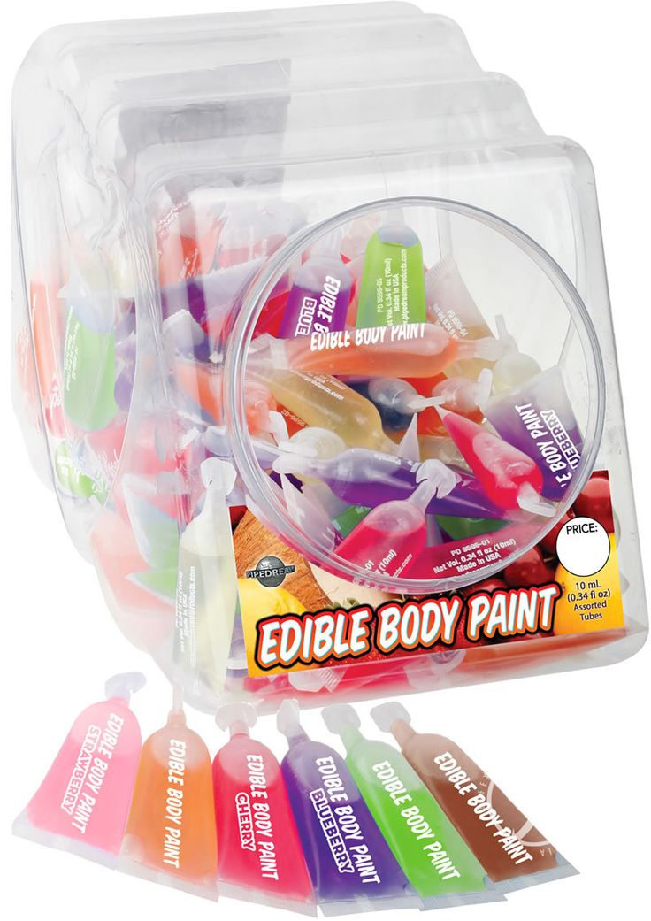 Buy Edible Body Paint 10 Ml 120 Per Bowl Assorted Flavors online cheap. SALE! $102.49