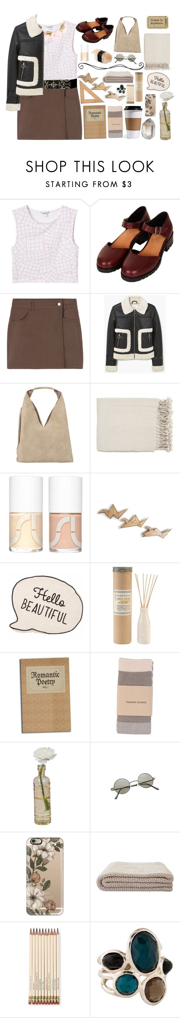 """""""Untitled #352"""" by mcgoddess2 ❤ liked on Polyvore featuring Monki, Topshop, MANGO, INZI, Surya, Uslu Airlines, Paddywax, Tsumori Chisato, Cultural Intrigue and Ardene"""
