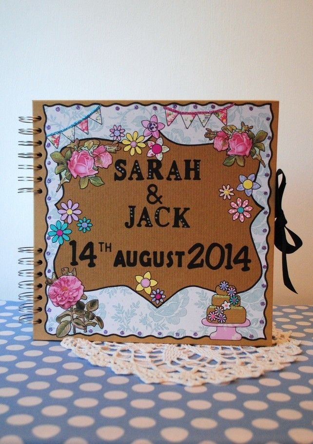 Pretty Personalised Wedding Guestbook 594 best Handmade