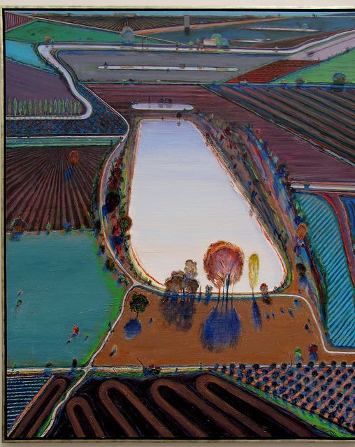 Wayne Thiebaud. Ponds and Streams, 2001. Oil on canvas. de Young Museum