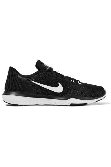 Nike - Flex Supreme Tr 5 Mesh Sneakers - Black