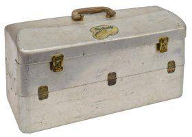 VINTAGE FISHING TACKLE, BOX, REELS, 50 LURES