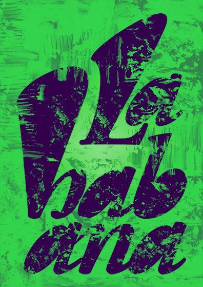 """Show us your type"" poster / LA HABANA edition, 2014 by Filipa Ribeiro"