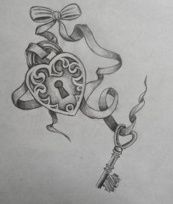 Image Detail for - Lock & Key tattoo   Roxanne's Tattoo Designs