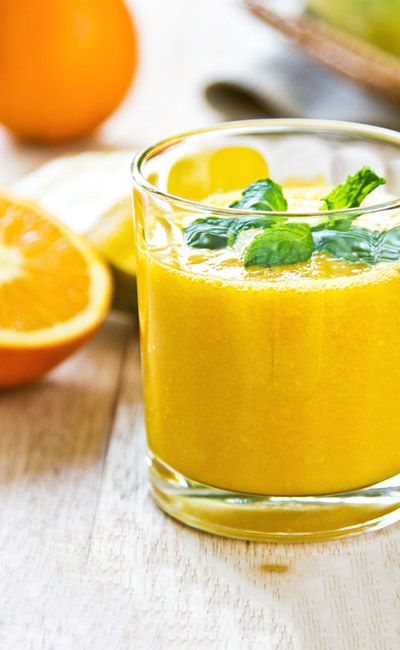 Weight Loss Smoothie - Orange, Lemon, And Flax Seeds Smoothie