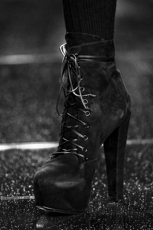 Lace up booties. http://zsazsabellagio.blogspot.ca/search?updated-max=2012-07-29T21:40:00-07:00&max-results=15