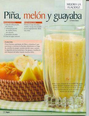 Verde y Natural: Piña melón y guayaba para mejorar la flacidez
