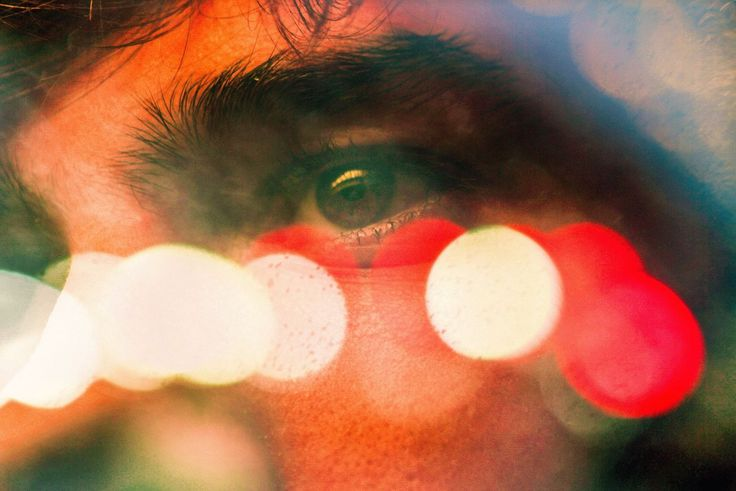 red, one person, multi colored, real people, close-up, day, outdoors, adult, adults only, people, double exposure, young adult