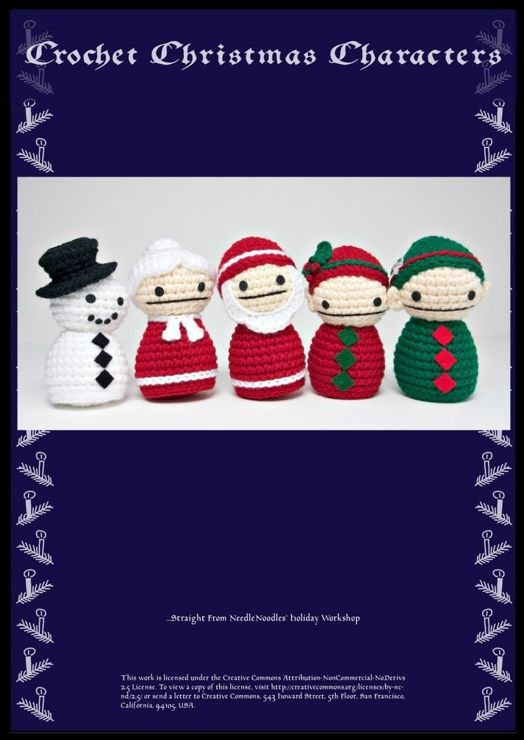 Christmas Crochet Pattern Collection PDF. $5.00, via Etsy.
