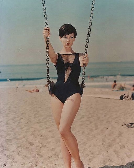 Barbara Gordon/Batgirl from the 1967 Batman TV series. Side note: That Bathing Suit is STILL sexy beautiful!  I'd Rock It! ✨