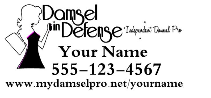 """Damsel in Defense Decal 12x24""""  Black part of decal is cut in white.  For custom orders email us at melissa@imagineitvinyl.ca"""