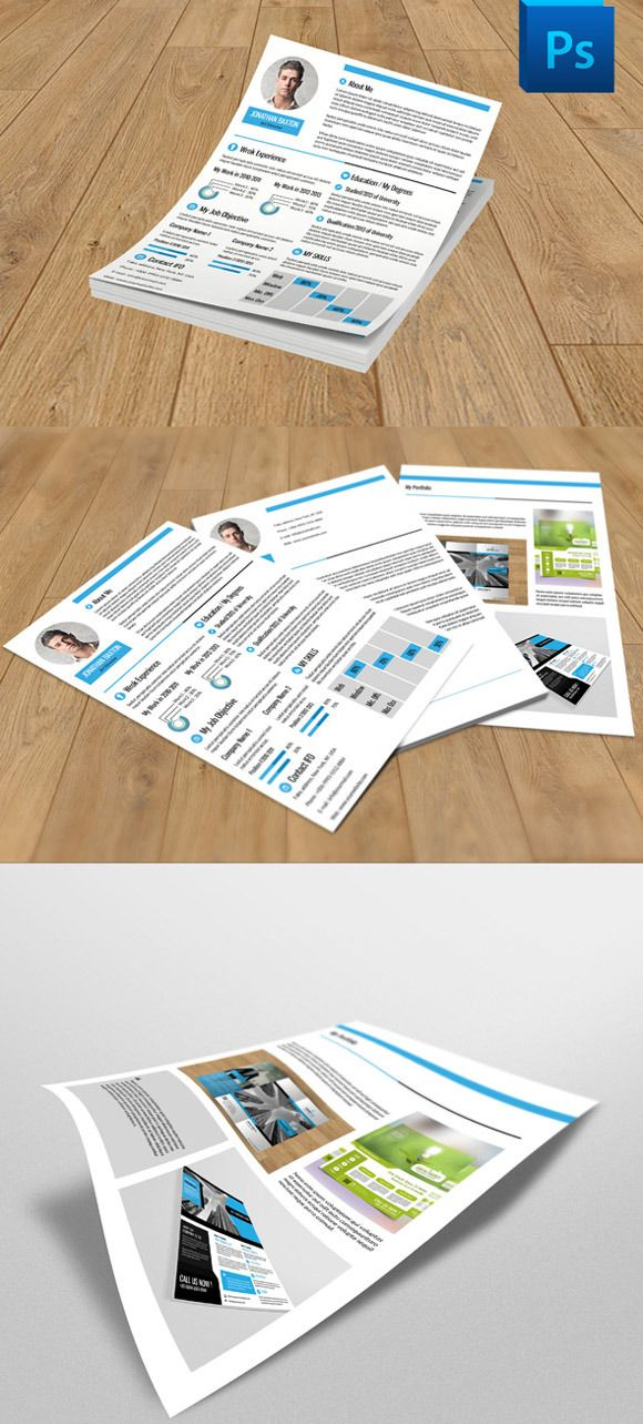 Resume template V02 CleanResume 257 best CV Templates