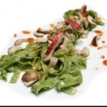 Tagliatelle Verdi ai Funghi e Olive ♥