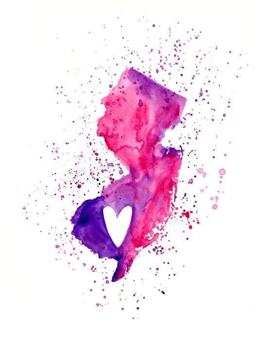 New Jersey Love  Art Print 8x10 inchWall ArtHome by dreamlandart, $19.00