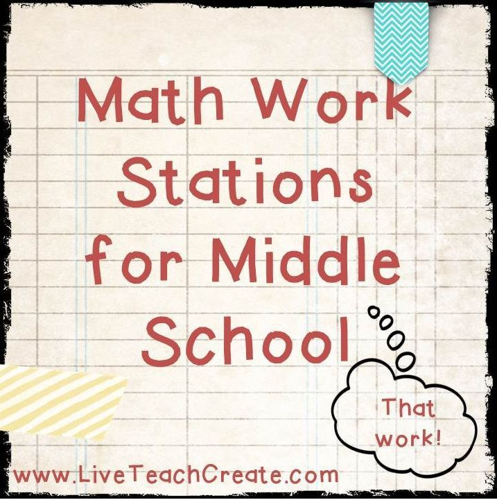 Math Work Stations For Middle School - Winter Math Centers for Resource Math