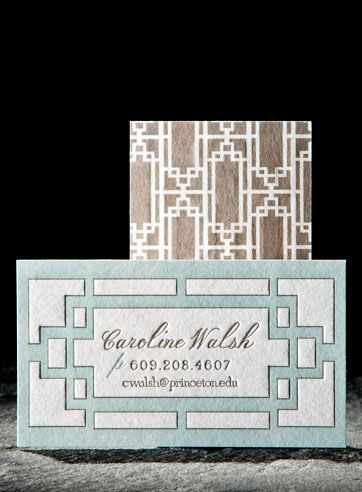 Designed by Smock Paper: Cute Business Cards, Letterpresses Invitations, Cards Invitations Paper Mor, Letter Pressed Stationery, Custom Letterpresses, Contact Cards, Art Deco, Call Cards, Letterpresses Business Cards