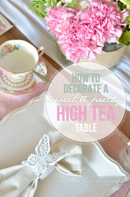 How to decorate a sweet high tea table with fresh flowers