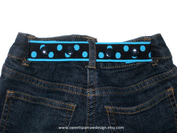 ELASTIC SNAP BELT for Children Toddler Baby  by SweetSparrowDesign