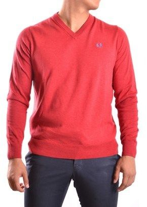 Fred Perry Men's Red Cotton Sweater.