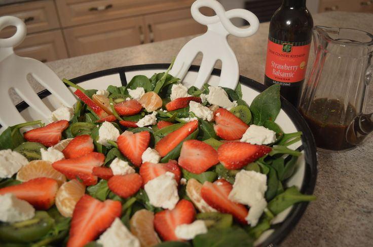 #February 27th is #NationalStrawberryDay! Try out this phenomenal #recipe for #Kiwi #Strawberry & #Spinach #Salad with #Chevre & Strawberry #Lime #Balsamic #Vinaigrette ! https://youtu.be/u5JWGXKouI8 This show is brought to you by Wine Country Kitchens: http://WineCountryKitchens.com  * Subscribe to Cooking With Kimberly: http://cookingwithkimberly.com @CookingWithKimE #cwk
