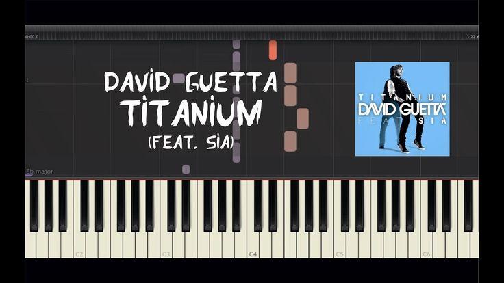 David Guetta - Titanium (feat. Sia) - Piano Tutorial by Amadeus (Synthesia)