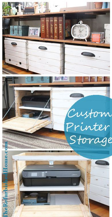 DIY Tutorial for a Custom Printer Storage Crate from TheRefurbishedHome.com