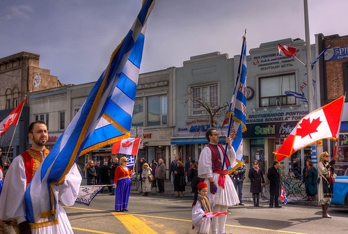 Todays Parade for Greek Independence Day in Toronto