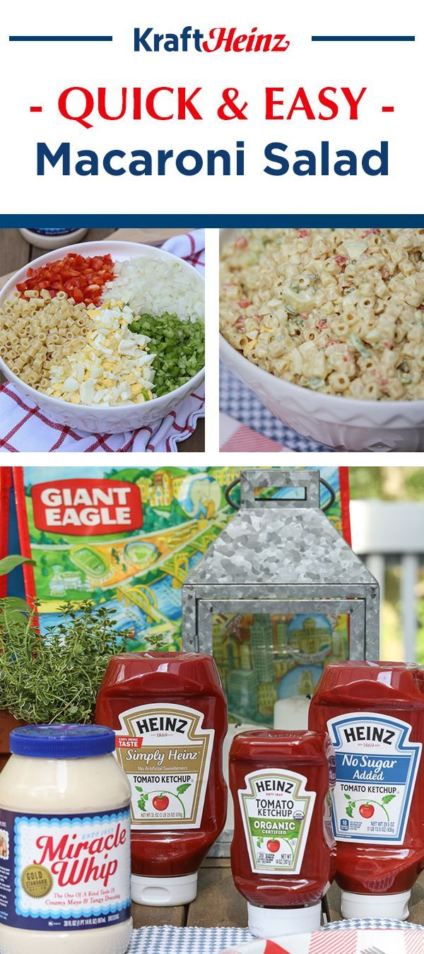 It S Grilling Season At Giant Eagle Need A Go To Side For Your Backyard Barbeque Try This Recipe For A Quick Easy Macaroni Macaroni Salad Easy Macaroni Salad