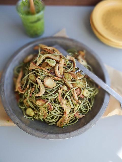 Pesto pistachio pasta recipe
