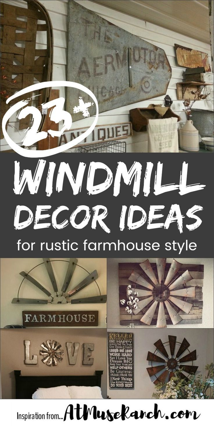 Looking to get that rustic farmhouse style... say like Joanna Gaines? Then take a look at these awesome windmill decor ideas. You're going to want to copy these.