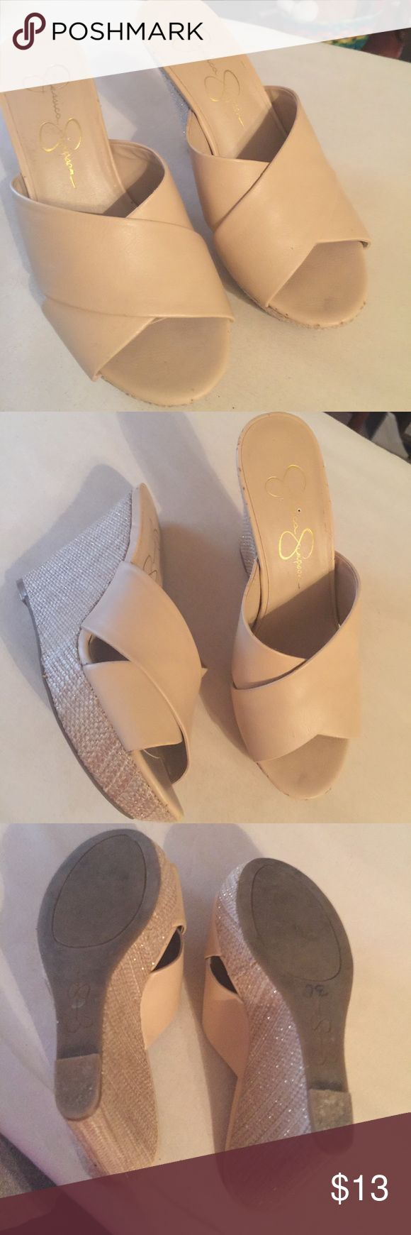 Jessica Simpson wedge shoes Cream colored wedges Jessica Simpson Shoes Wedges